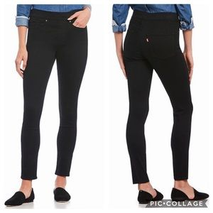 Levi's Pull On Skinny Jeans 4 Black New NWT
